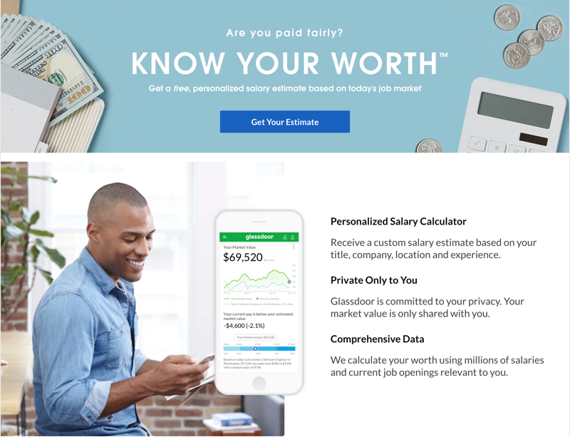 Know Your Worth Glassdoor Salary Calculator