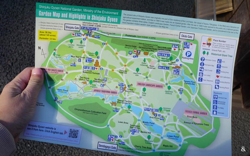 Shinjuku Gyoen National Garden Map